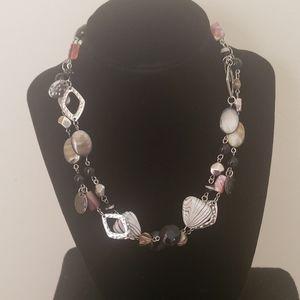 Smokey Onyx Moonstone Necklace